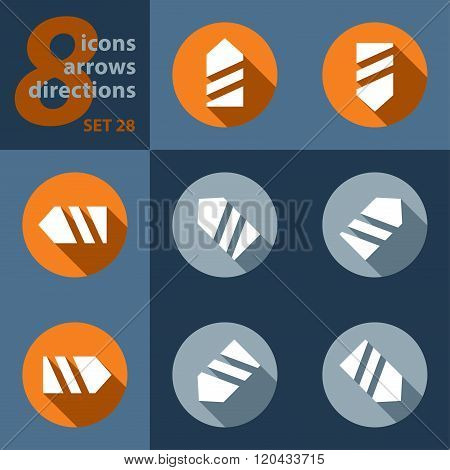 Set Of Eight Icons, With Arrows