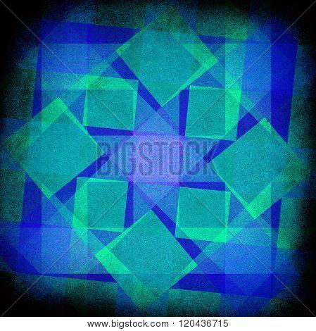Vintage Diamonds And Squares Pattern