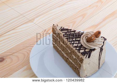 Mocha Cake With Almond  - Mocha Coffee Cake With Almond