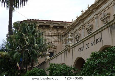 The Casa de Balboa and Palm Trees
