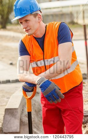Blue Collar Worker Standing