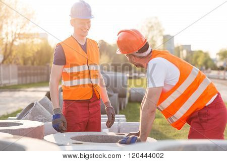 Labourers On Road Construction