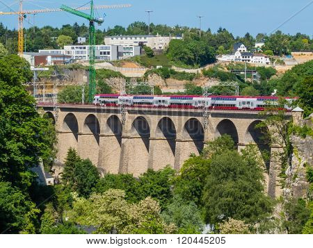 Luxembourg Cityscape And Clausen Viaduct