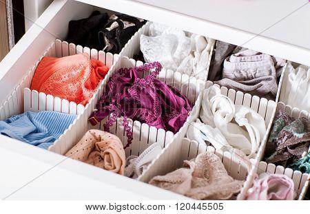 Female Linen In The Shelf