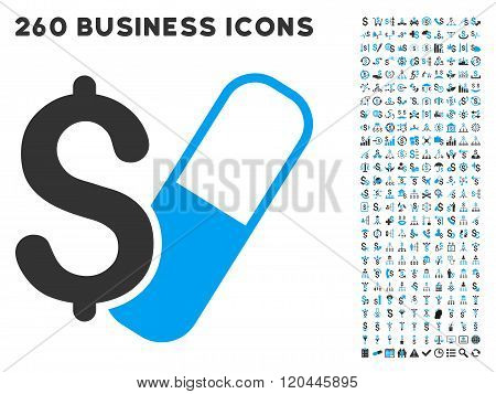 Farma Business Icon with Flat Vector Set