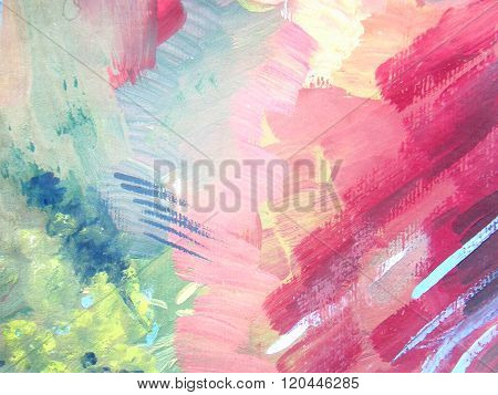 Abstract Brush Painting Background. Children's Gouache Drawing