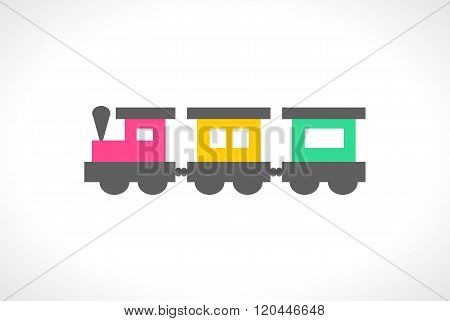 Illustration of beautiful multi colored toy train