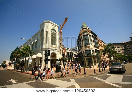 Beverly Hills, Ca - August 11: Rodeo Drive In Beverly Hills On August 11, 2009.