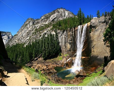 Vernal Falls With Rainbow, Yosemite National Park