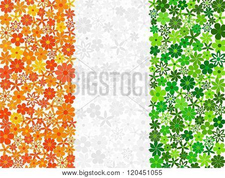 Floral mosaic flag of Cote dIvoire