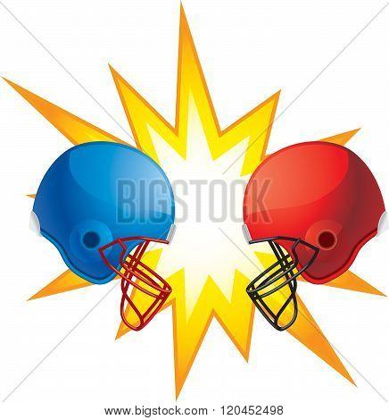 Helmets Clashing
