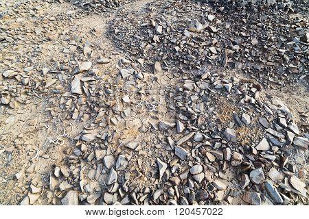 Lifeless Land, Strewn With Small Stones.