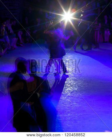 Tango Dancers In Milonga