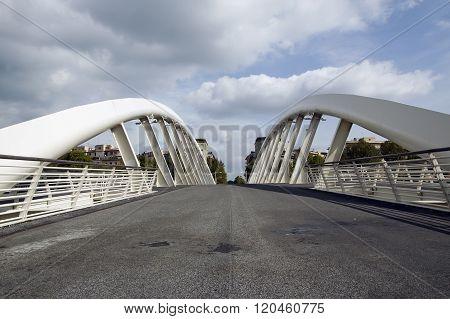 Modern Bridge In Rome