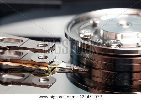 Hard Disk Closeup