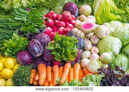 Fresh vegetables at a market