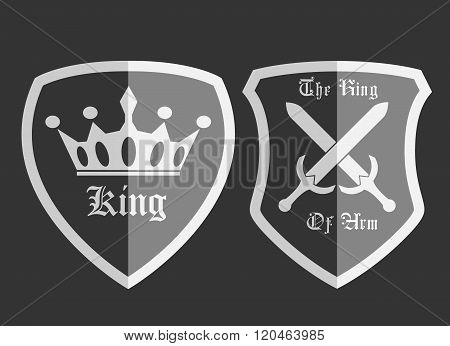 Shield Medieval With Badge Black