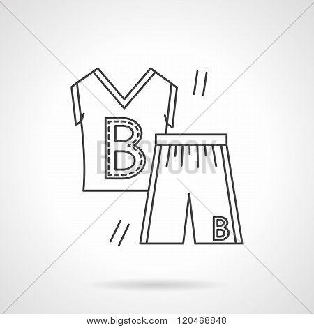 Basketball uniform flat line design vector icon