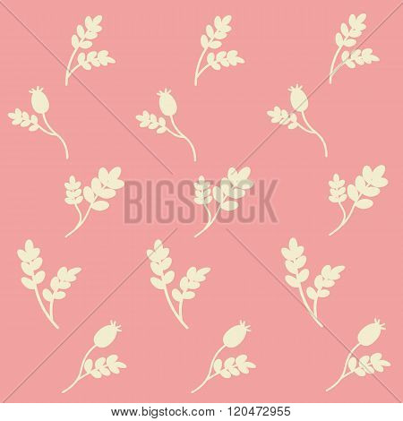 Vector Seamless Botanical Pattern With Briar