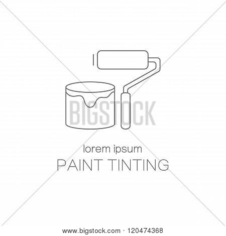Paint tinting logotype design templates.