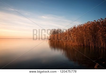 Beautiful landscape from a lake Balaton (Hungary)