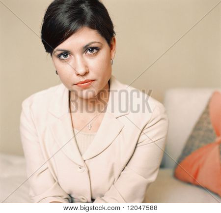 Portrait of serious businesswoman