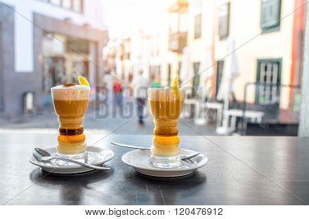 Traditioanl canarian coffee barraquito