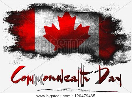 Flag Of Canada For Commonwealth Day