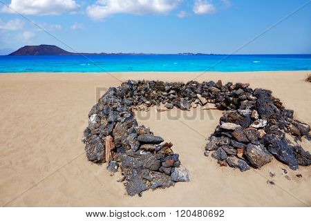 Corralejo Beach Fuerteventura at Canary Islands of Spain