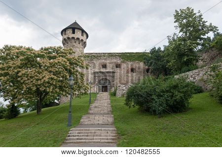 Buda Castle Entrance And Mace Tower