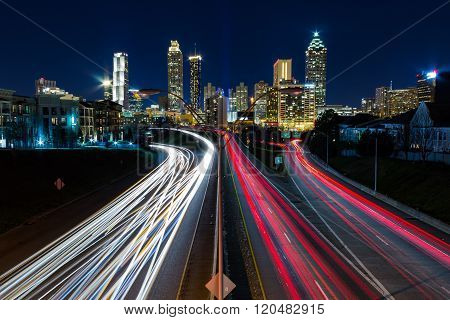 View of Atlanta from Jackson Street Bridge