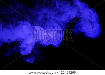 Abstract Blue Smoke Hookah.