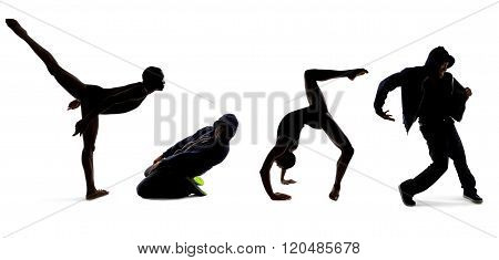 Dance Class Students Silhouette