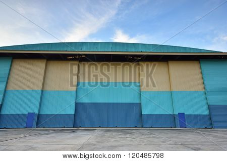Closed  Hangar In Aerodrome