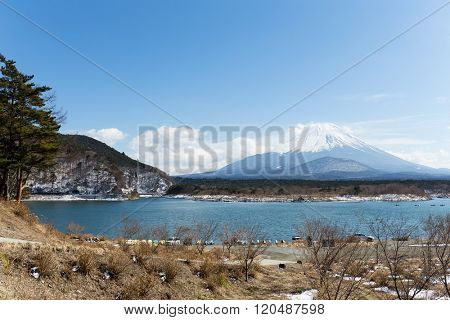 Lake Shoji with mt. Fuji
