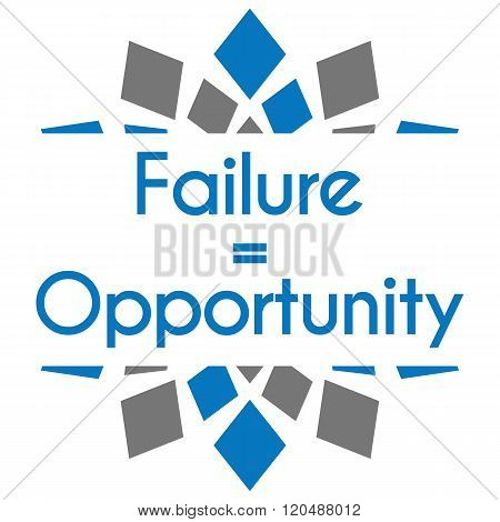 Failure Equals Opportunity Blue Grey Square Elements