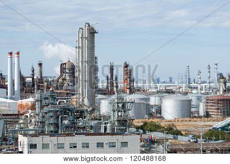 Industrial factory in kawasaki, Japan