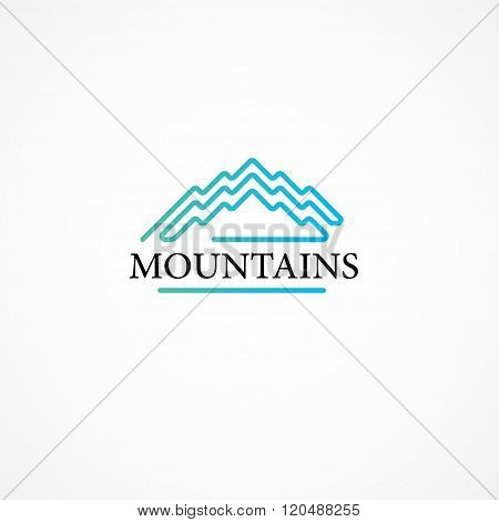 Mountains.