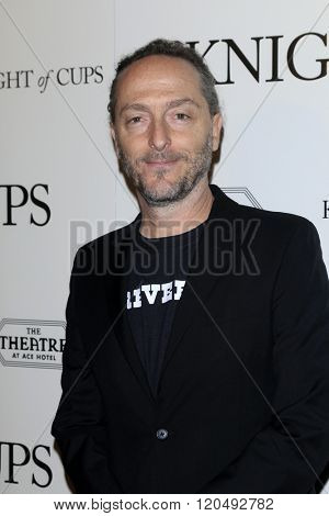 LOS ANGELES - MAR 1:  Emmanuel Lubezki at the Knight of Cups Premiere at the The Theatre at The ACE Hotel on March 1, 2016 in Los Angeles, CA