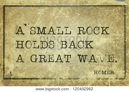 Rock Holds Homer