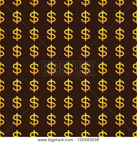Background With Golden Dollar Signs