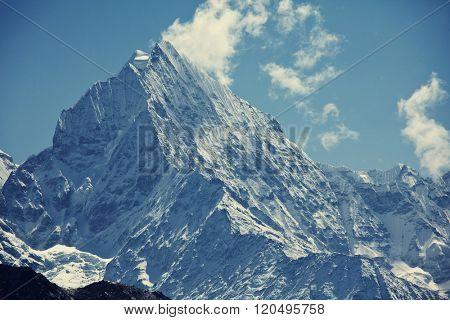 Beautiful mountain landscape in Sagarmatha region,Himalaya
