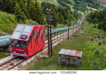 Funicular Railway Of Ritom In Ticino