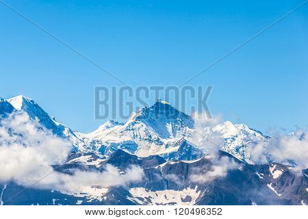 View Of Jungfrau In Swiss Alps