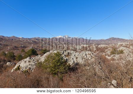 Mount Lovcen In Lovcen National Park Near Cetinje, Montenegro