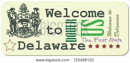 Label Welcome To The Delaware