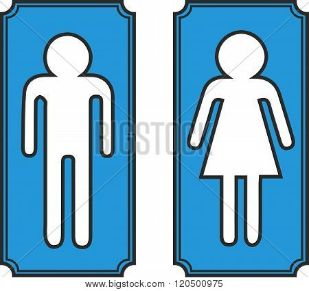Restroom banners vector , toilet signs man and woman