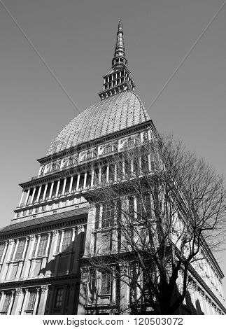 Mole Antonelliana In Turin In Black_and_white