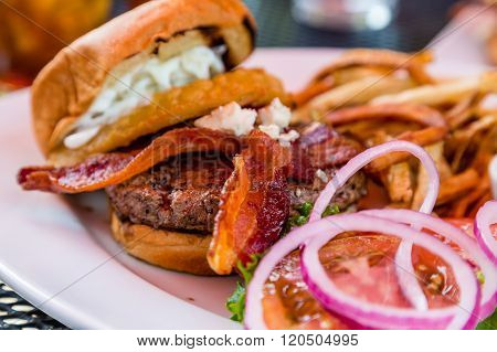 Crisp Bacon On Burger
