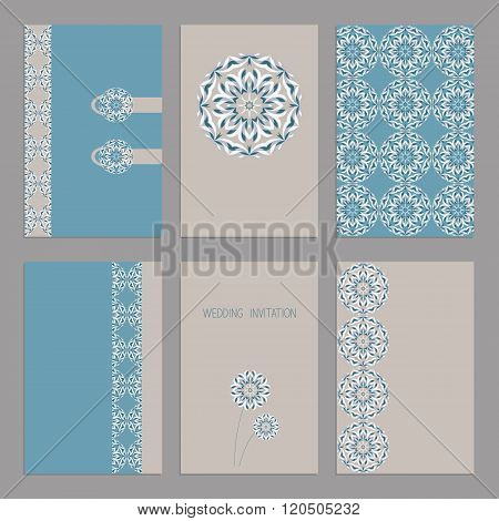 Vector Set of vintage cards  templates editable. Wedding invitation ?ard, save the date cards, thank